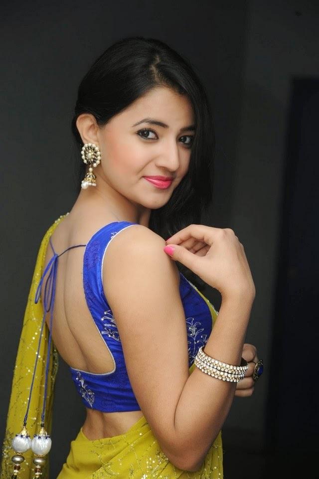 Actress Ruksar Meer In Spicy Yellow Saree Stills