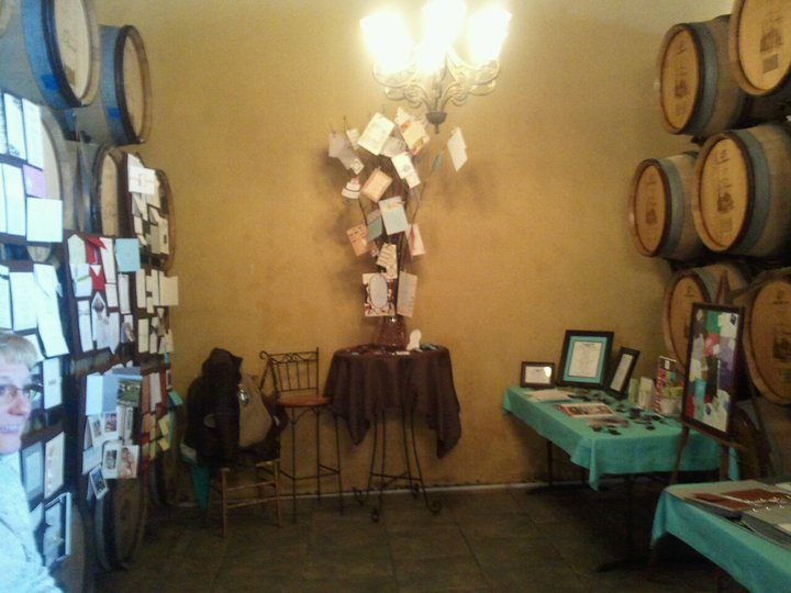 Below are pictures of our display at the La Grange Bridal Show