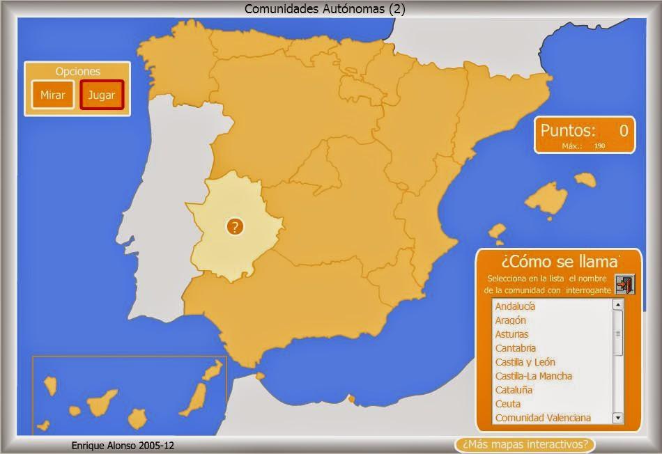 MAPAS  INTERACTIVOS del Blog Tercer De Carlos