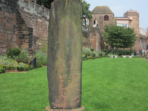 Roman Gardens column Chester
