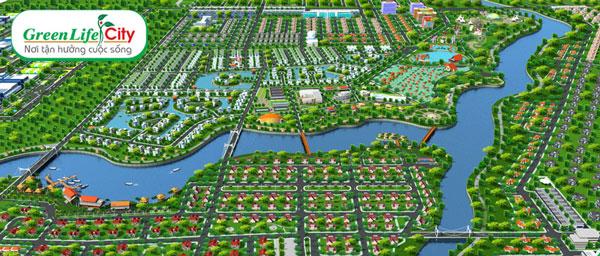 Phối cảnh tổng thể dự án Green Life City