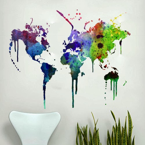 Dreams and wishes world map wall decoration from etsy these world maps are a timeless decorative feature that solve the problemd theyre all available on the etsy website as wall decals or prints gumiabroncs Image collections