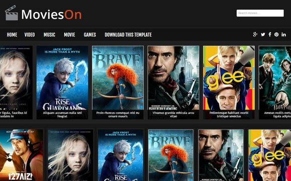 Movies On Blogger Template | High Quality Free Blogger Templates