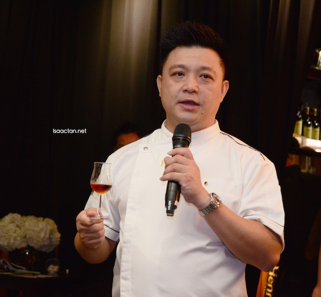 Chef James Won addressing the guests