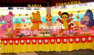 Children parties, Pooh Bear Decoration