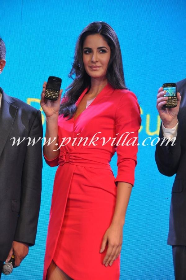 Katrina Kaif Red Dress Blackberry 9920 launch -  Katrina Kaif in Red Dress at Blackberry 9220 Launch
