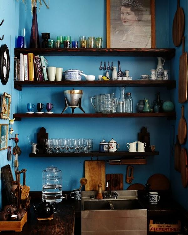 Blue Kitchen Walls, Via Earths kitchen