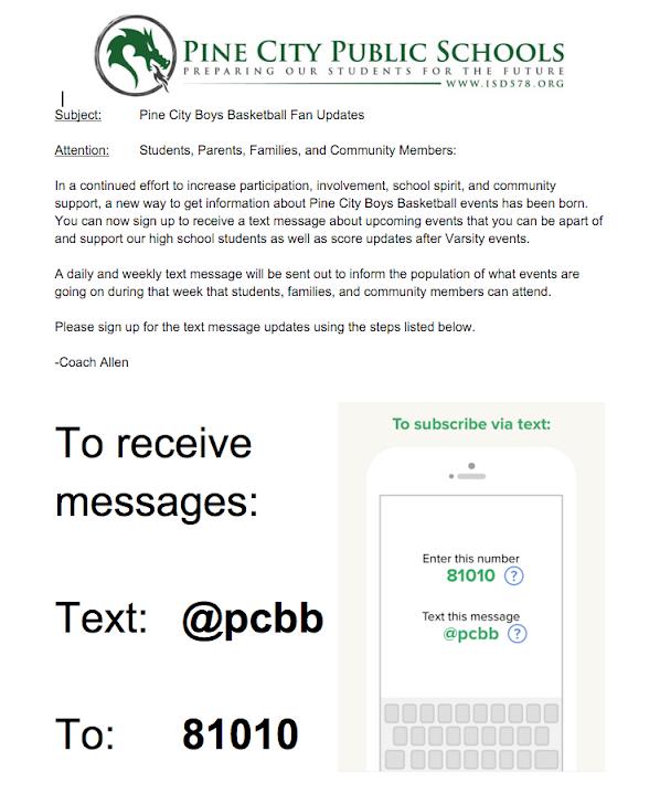 Fan Text Updates