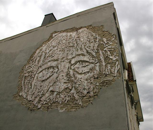 Street Art Portrait By Vhils For Nuart Festival 2013 In Stavanger, Norway. 1