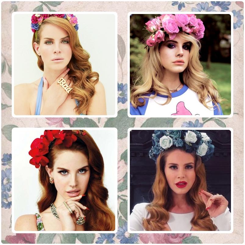 Lana Del Rey Style, Lana Del Rey Makeup, Lana Del Rey Tutorial, Lana Del Rey Flower Crown, Boho Fashion, Flower Crown DIY, Floral Crown DIY, Flower Headband, Dollar Store DIY, How to Look Like Lana Del Rey