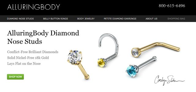 Belly Button Rings at AlluringBody.com