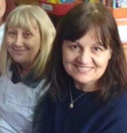 Bibliotecarias Gladys y Bea