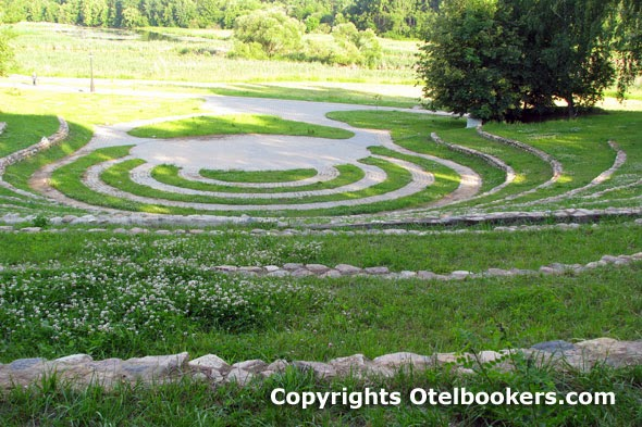 The landscaped Amphitheater in the Loshica Estate - Belarus