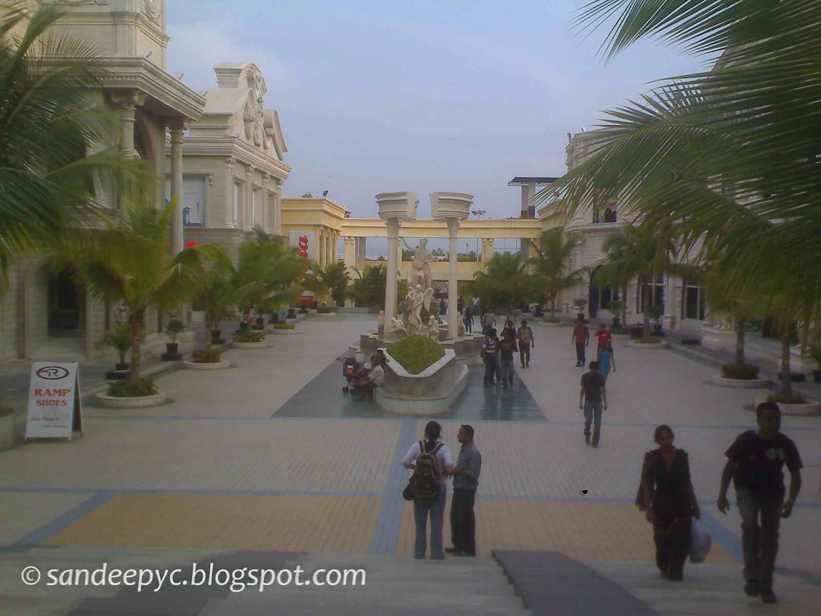 inside Innovative Film CIty, Main street