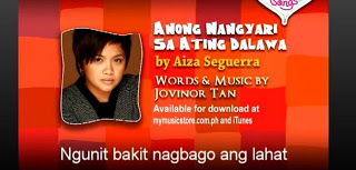 Hottest OPM Songs, Aiza Seguerra, Lyrics, Lyrics and Music Video, Music Video, Newest OPM Song, Newest OPM Songs, OPM, OPM Lyrics, OPM Music, OPM Song 2013, OPM Songs, Song Lyrics, Video,Ano'ng Nangyari Sa Ating Dalawa