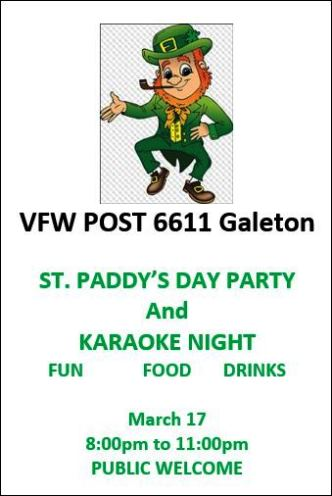 3-17 St. Paddy's Say Party Galeton