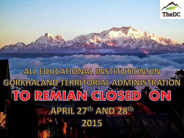 GTA chief announces all educational institutions in GTA closed on 27th - 28th April for quake safety