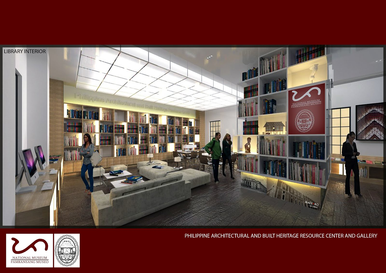 The Proposed Interior Layout Of Philippine Architectural Gallery And Built Heritage Resource Center At National Museum Philippines In 2013