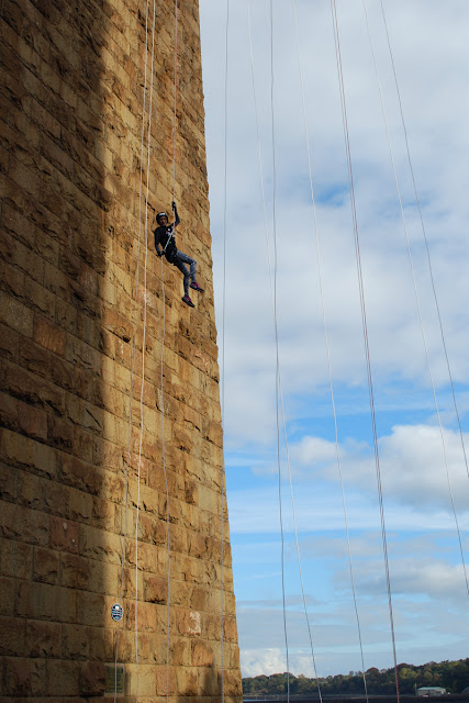 Forth Rail Bridge abseil - team SAMH