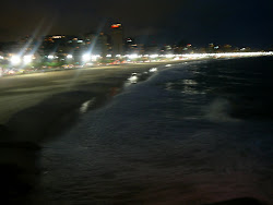 World Famous Ipanema Beach at night, Rio de Janeiro