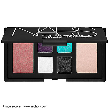 NARS Debbie Harry Eye And Cheek Palette Sephora Exclusive Eyeshadows Twinkling Purple Sparkling Turquoise White Shimmer Starry Black Blushes Pink Champagne Brilliant Cream Indian Makeup Beauty Blog Swatches