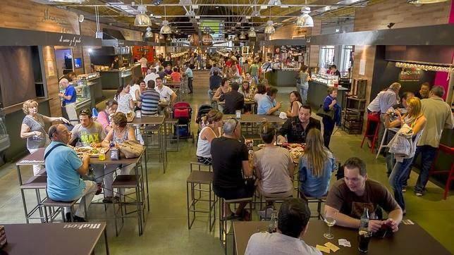 interior estación gourmet Valladolid
