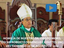 VIDEO DE LA HOMILÍA DEL SR. OBISPO, DEL DÍA  20 DE AGOSTO DE 2017