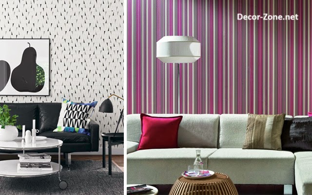 Living room wallpaper 15 ideas and designs for inspiration for Latest wallpaper for living room