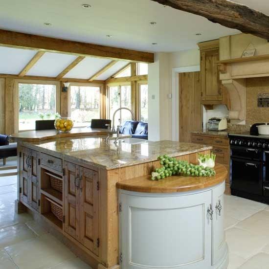Extend Kitchen Island: New Home Interior Design: Kitchen Extensions