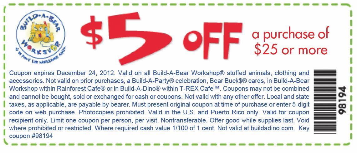 Discount build a bear coupons