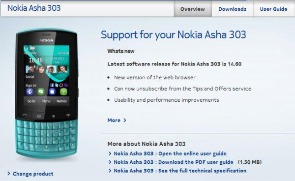 Nokia Asha 303 Firmware Updated To Version 14.60
