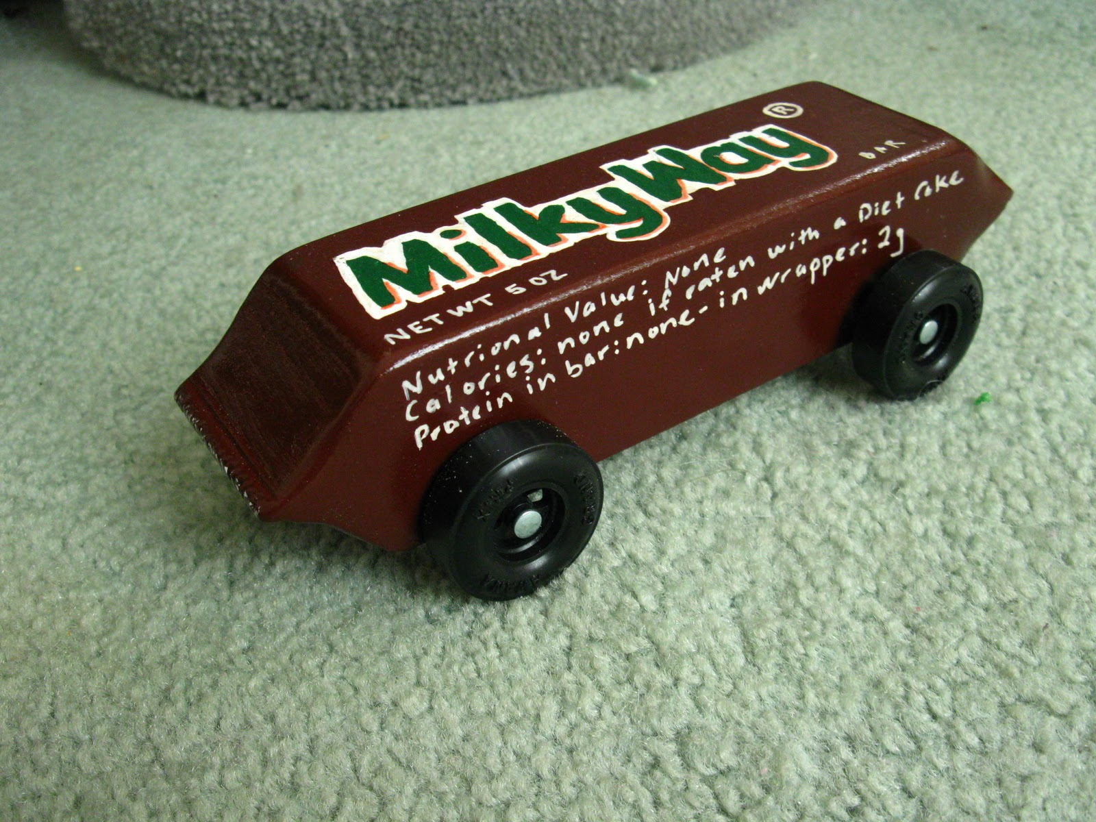 Cool pinewood derby cars milky way car