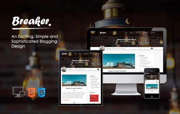 Breaker Responsive Blogger Template