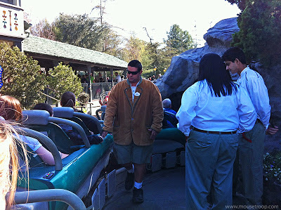Matterhorn Bobsleds loading dispatch ride Disneyland coaster