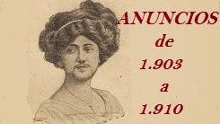 Anuncios de 1903 a 1910.