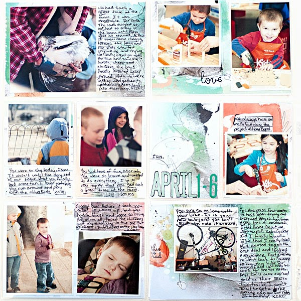 Project Life | Week 14 | Scrapbook | Anna Aspnes | Scrap Stacks | Printables | Heather Greenwood