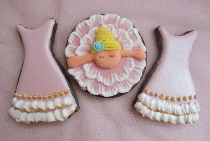 Galletas cumpleaños decoradas con glasa, tema ballet