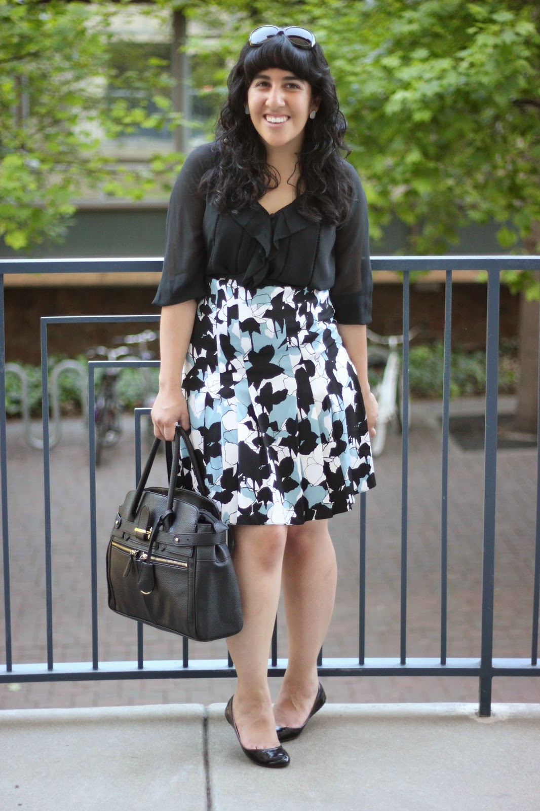 DVF Top and Floral Skirt