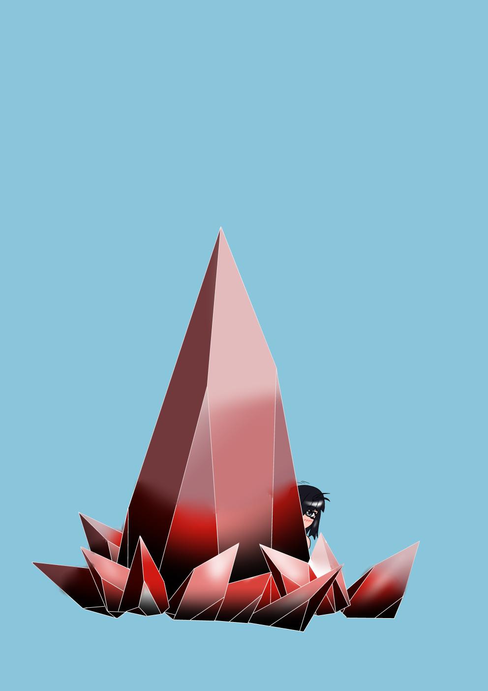 水晶の描き方練習その2(八雲楓)