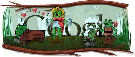 Google Gioachino Rossini'nin 220. Dogum Gunu Logosu