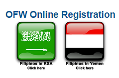 IMPORTANT: KSA & YEMEN OFW REGISTRATION