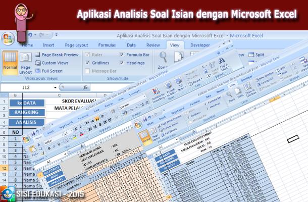 Aplikasi Analisis Soal Isian dengan Microsoft Excel