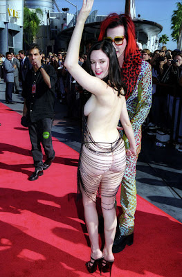 Rose McGowan MTV Red Carpet Dresses