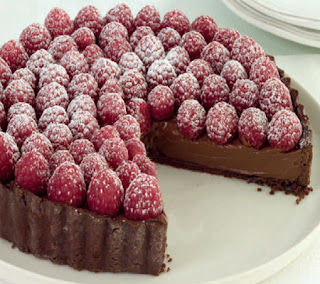 Raspberry-Tart-with-Chocolate-Cream-Recipe