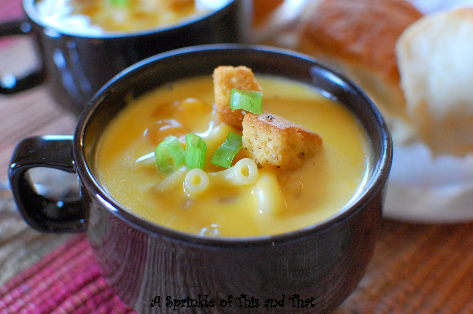 A Sprinkle of This and That: Beer Mac n Cheese Soup