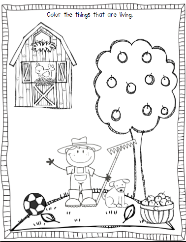 Sarah 39 s first grade snippets living and nonliving for Living and nonliving things coloring pages