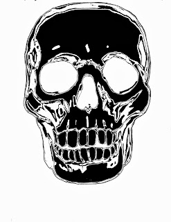 black and white skull items for sale at zazzle
