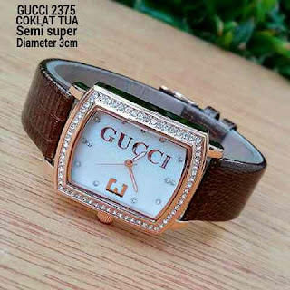 Gucci Three Leather Coklat