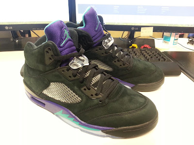 > Retro Air Jordan V Black Grape --- Close Up - Photo posted in Kicks @ BX  (Sneakers & Clothing) | Sign in and leave a comment below!