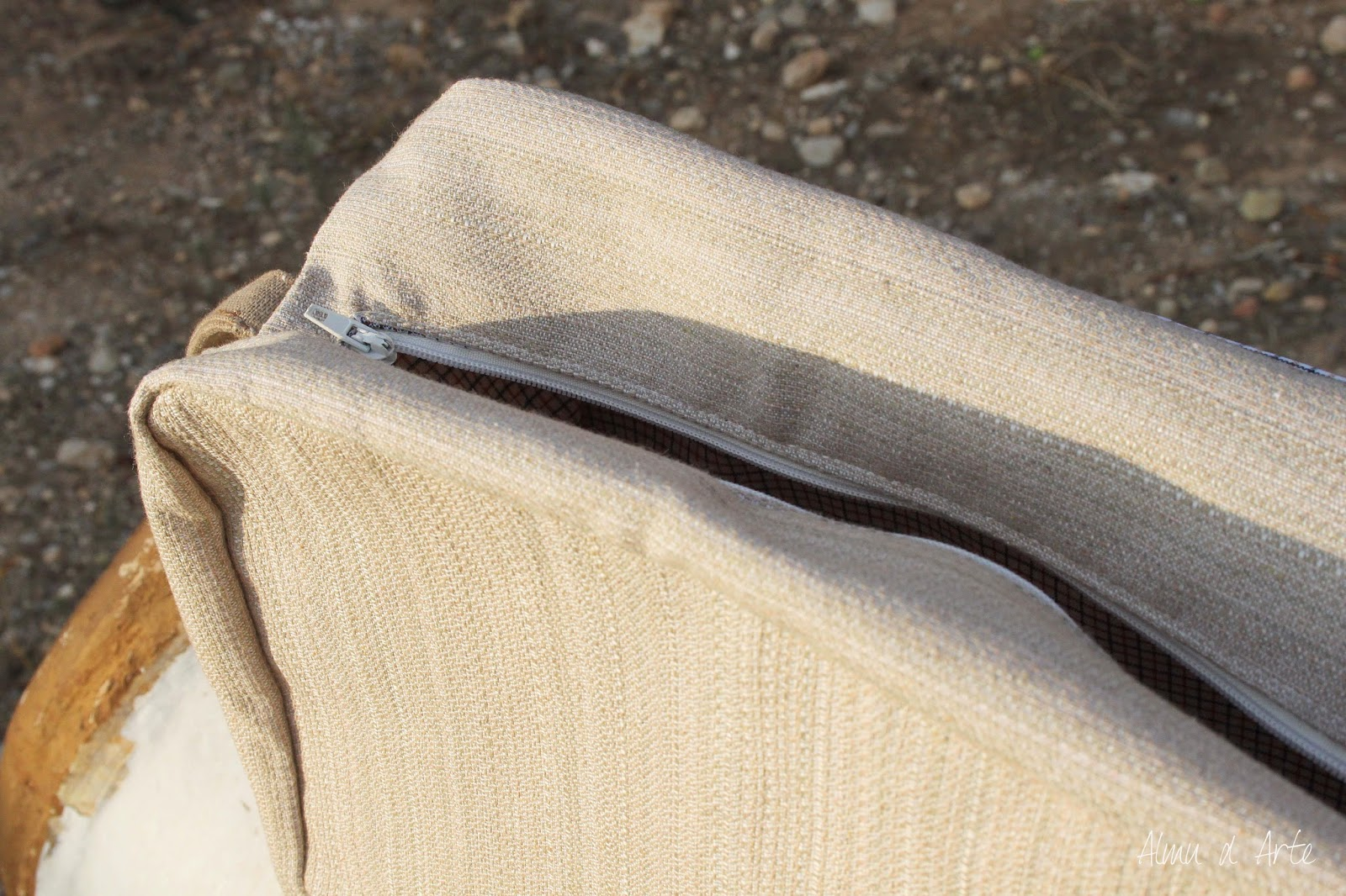 Bolso hecho a mano con cremallera